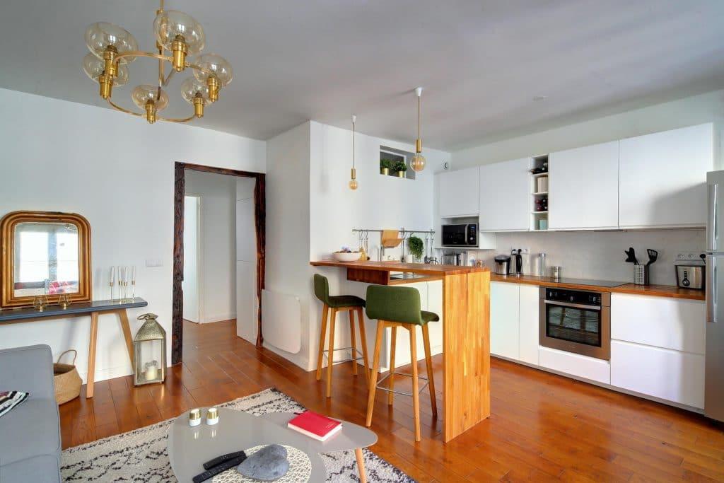 rénovation, aménagement et decoration interieur au style scandinave pour un sejour