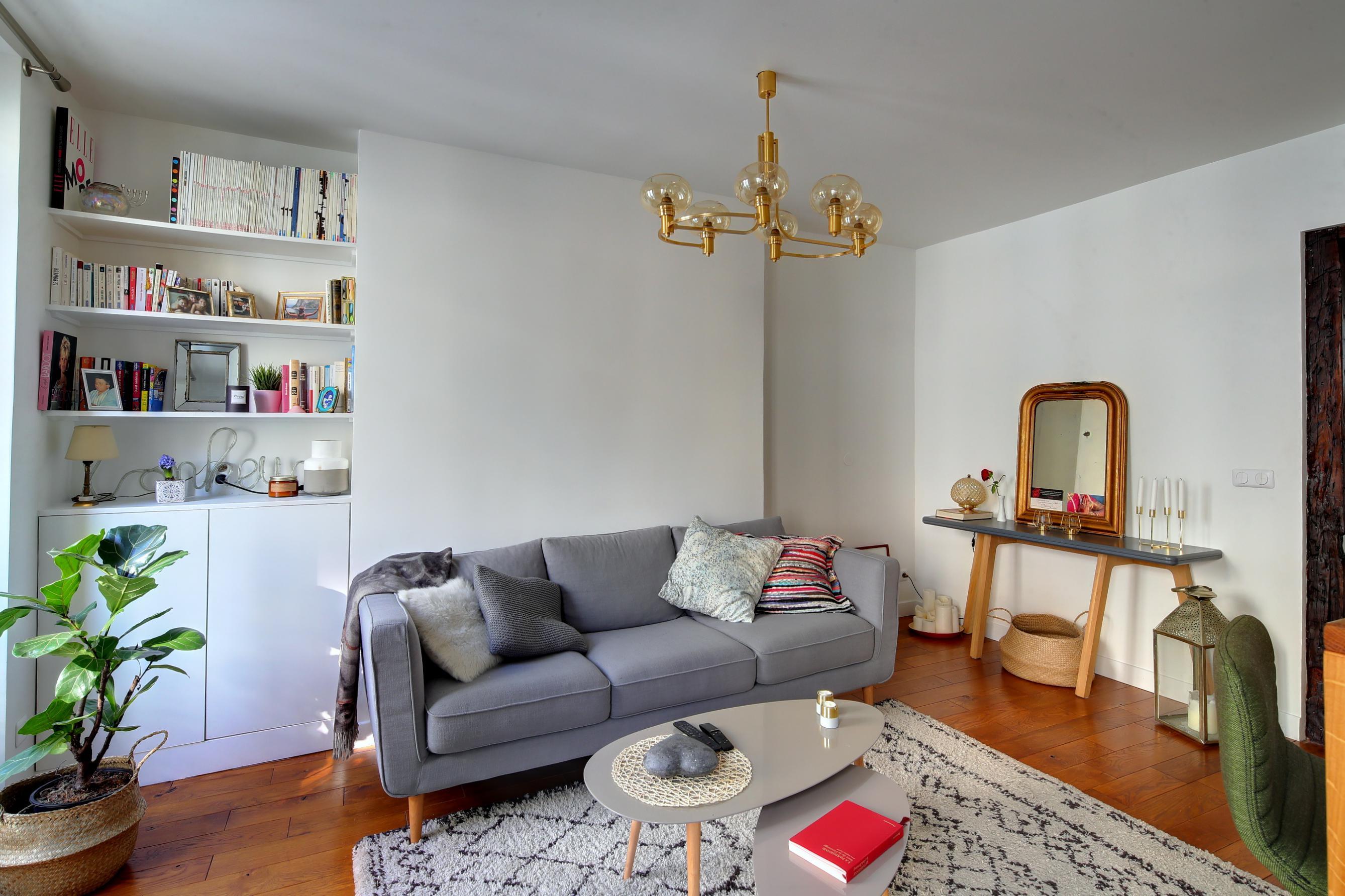 renovation amenagement et décoration interieure au style scandinave pour un salon