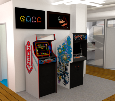 conception 3D espace gamer