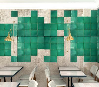 amenagement d'un restaurant decoration murale en 3D