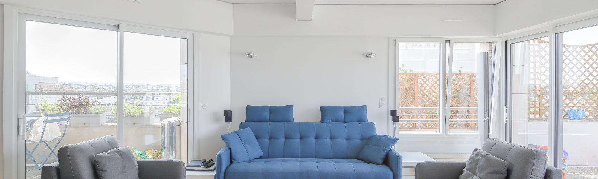 renovation d'un salon moderne
