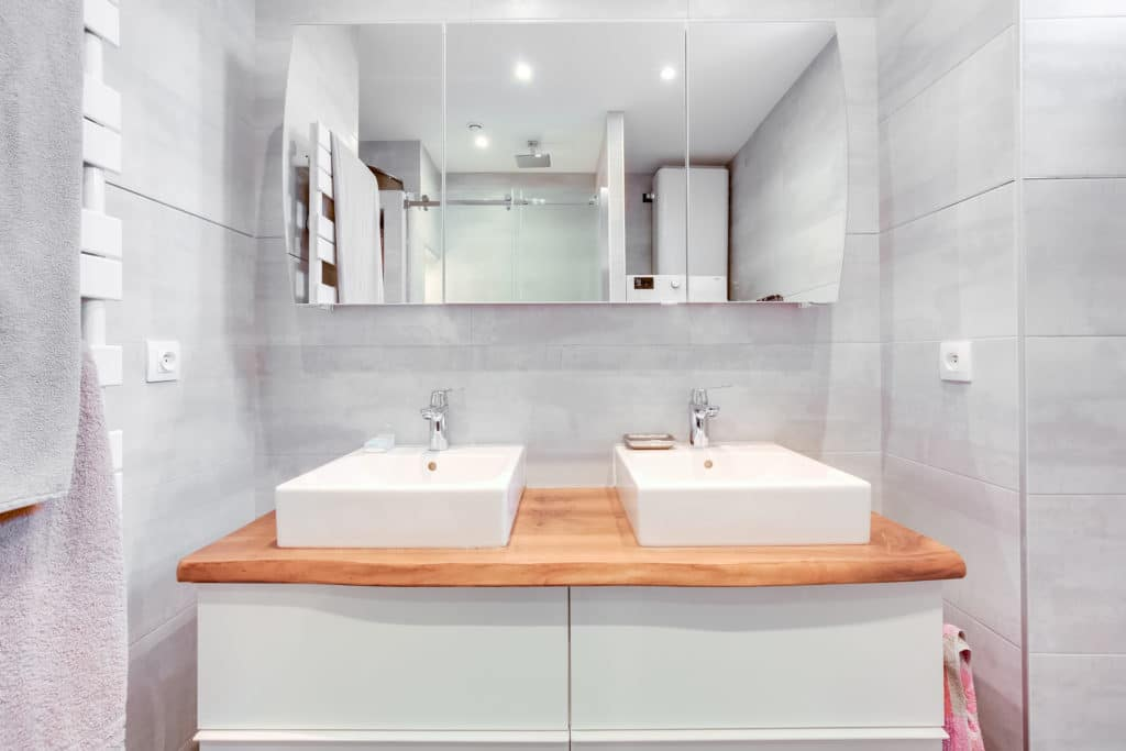 rénovation salle de bain double vasque