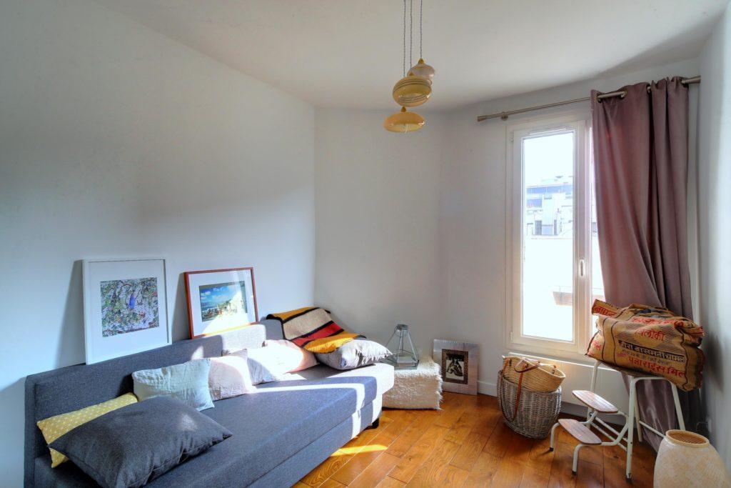 renovation et amenagement interieur d'une chambre au Marais