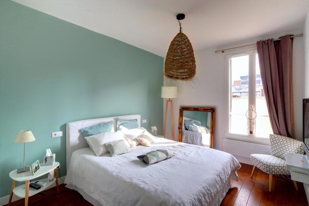 rénovation aménagement et décoration intérieure pour une chambre au style sccandinave