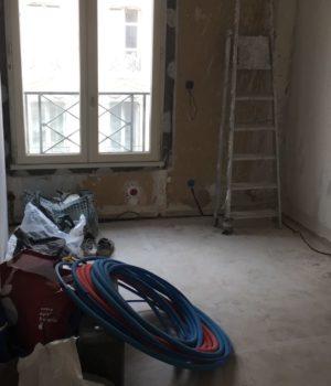 travaux rénovation chambre adulte